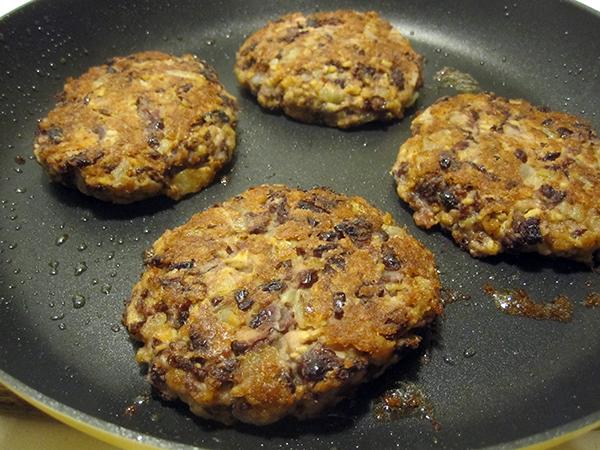 soy kidney bean burger patties