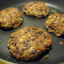 TVP & Kidney-Bean Burger Patties