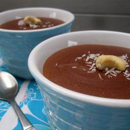Cashew Schokoladen Pudding (Vegan, Glutenfrei, Fruchtgesüßt)