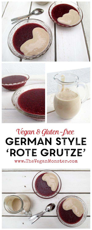 Vegan Gluten-free Rote Grutze Polenta Fruit Juice Dessert