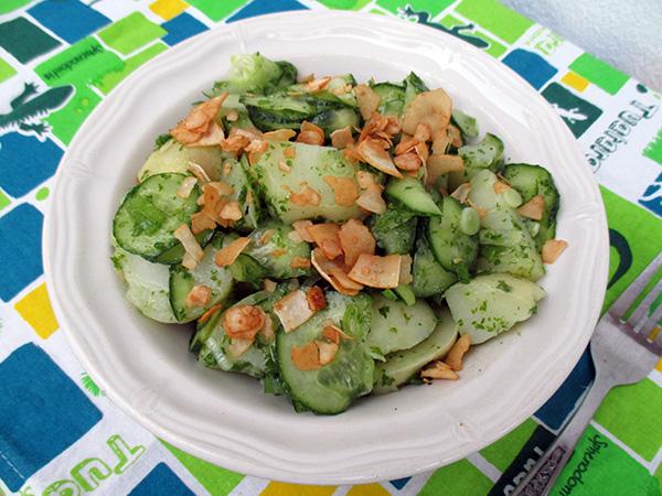Vegan Gluten-free Cucumber Potato Salad