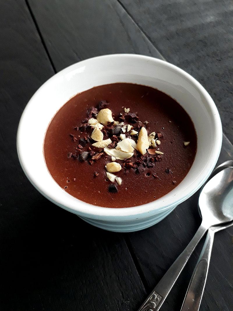 Vegan Gluten-free Fruit-Sweetened Chocolate Pudding Recipe