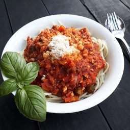 (Potentially) World's Best Tofu Bolognese (Vegan, Gluten-free)