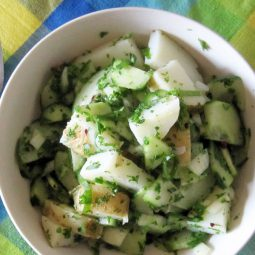 Potato Cucumber Salad (Vegan, Gluten-free)