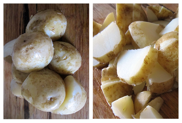 vegan and gluten free cucumber potato salad