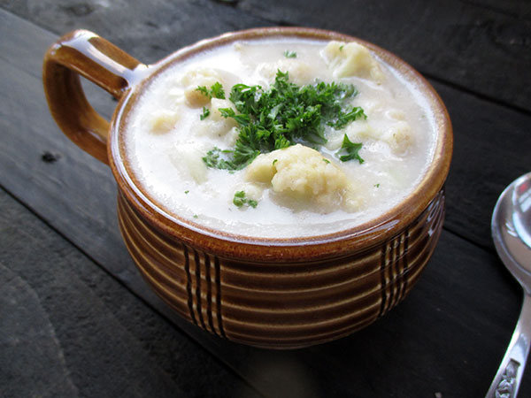 Vegan Gluten-free Dairy-free Cauliflower Potato Soup