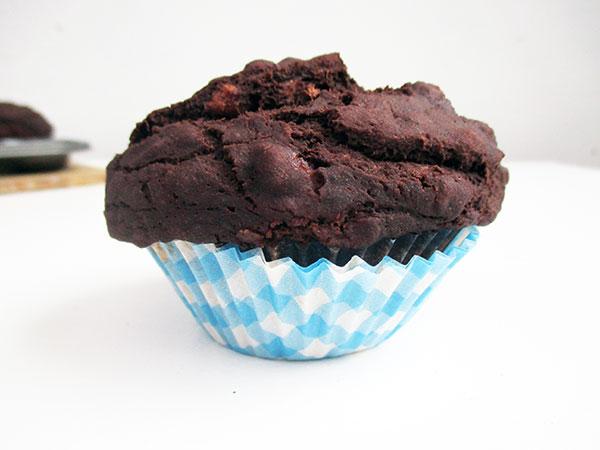 Chocolate Banana Muffins (Vegan, Gluten-free, Dairy-free, Egg-free)