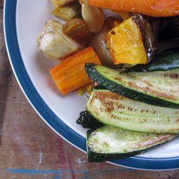Roasted Vegetables & Fried Courgettes