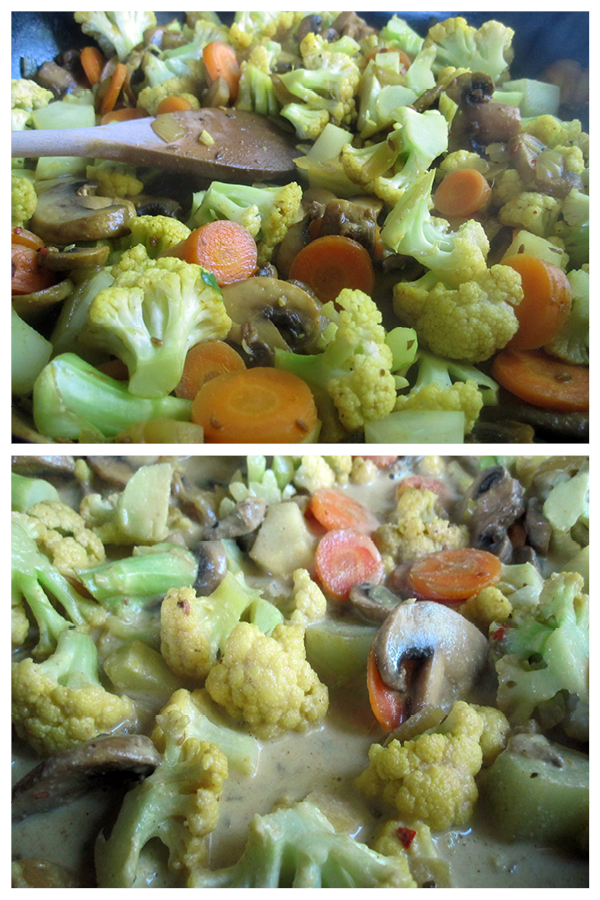 Vegan Cauli Mushroom Carrot Curry