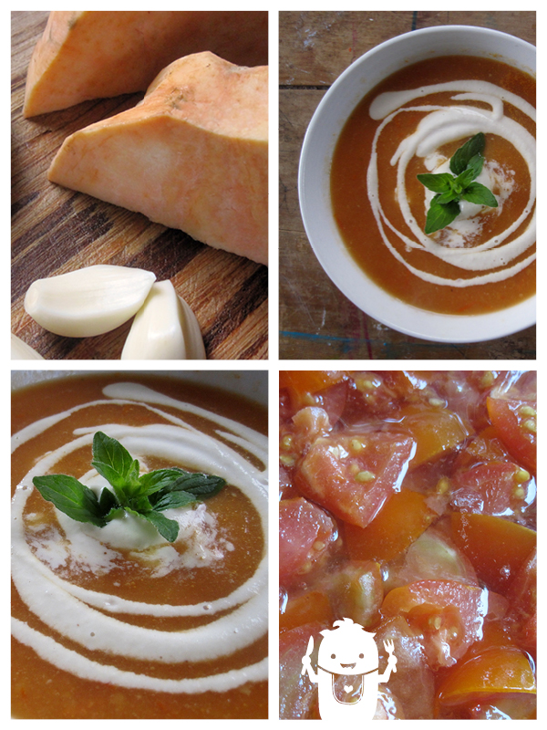 vegan gluten-free Kumara Tomato Soup