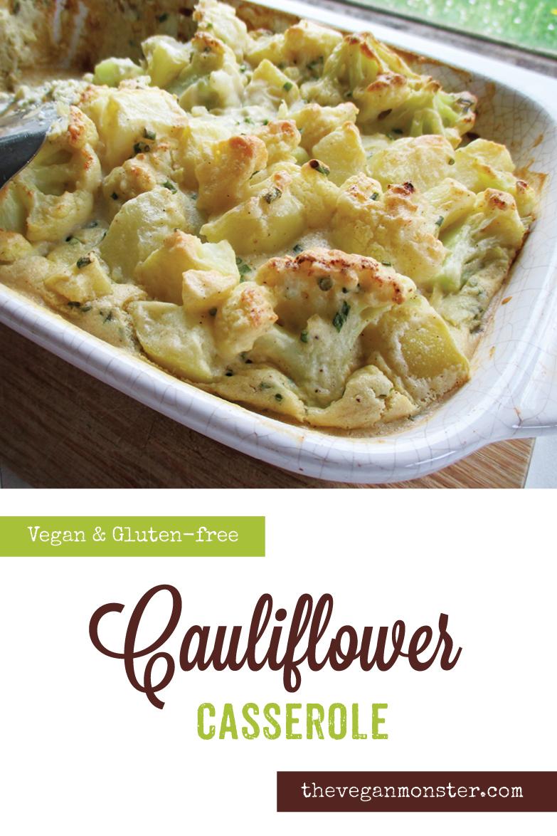 Vegan Gluten-free Cauliflower Casserole Recipe