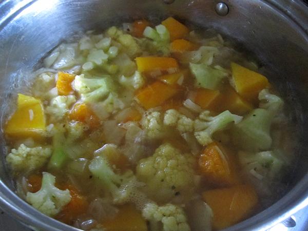 Vegan Gluten-free Pumpkin Cauli Soup