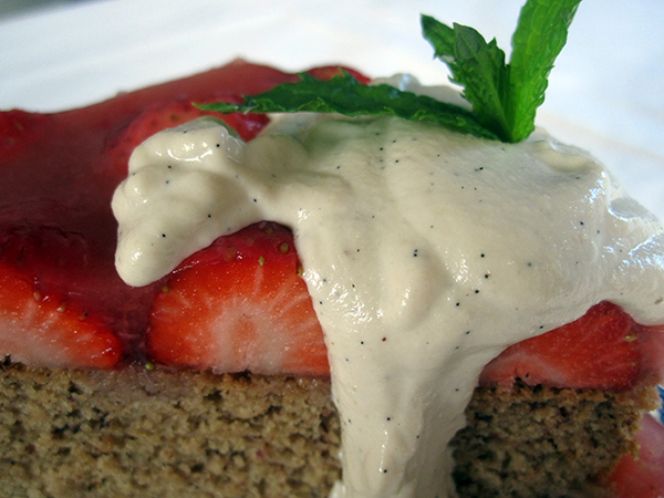 Vegan Gluten-free Strawberry Cake