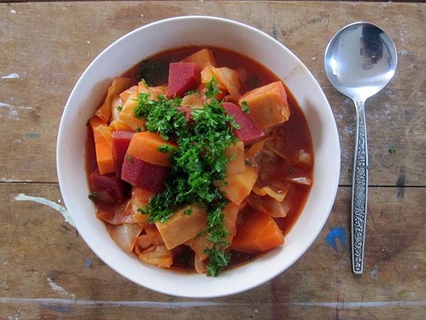 Vegan Spicy Red Vege Soup