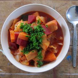 Spicy Red Vege Soup