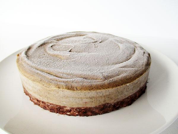 No Bake Raw Vegan Gluten-free Dairy-free Coffee Cake