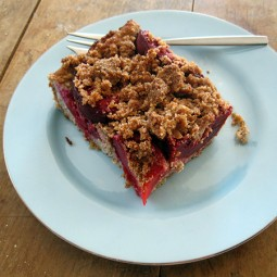 Pflaumen Streuselkuchen (Vegan, Glutenfrei)