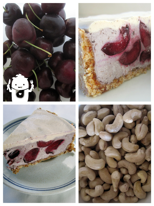 Vegan Gluten-free No Bake Cherry Cake