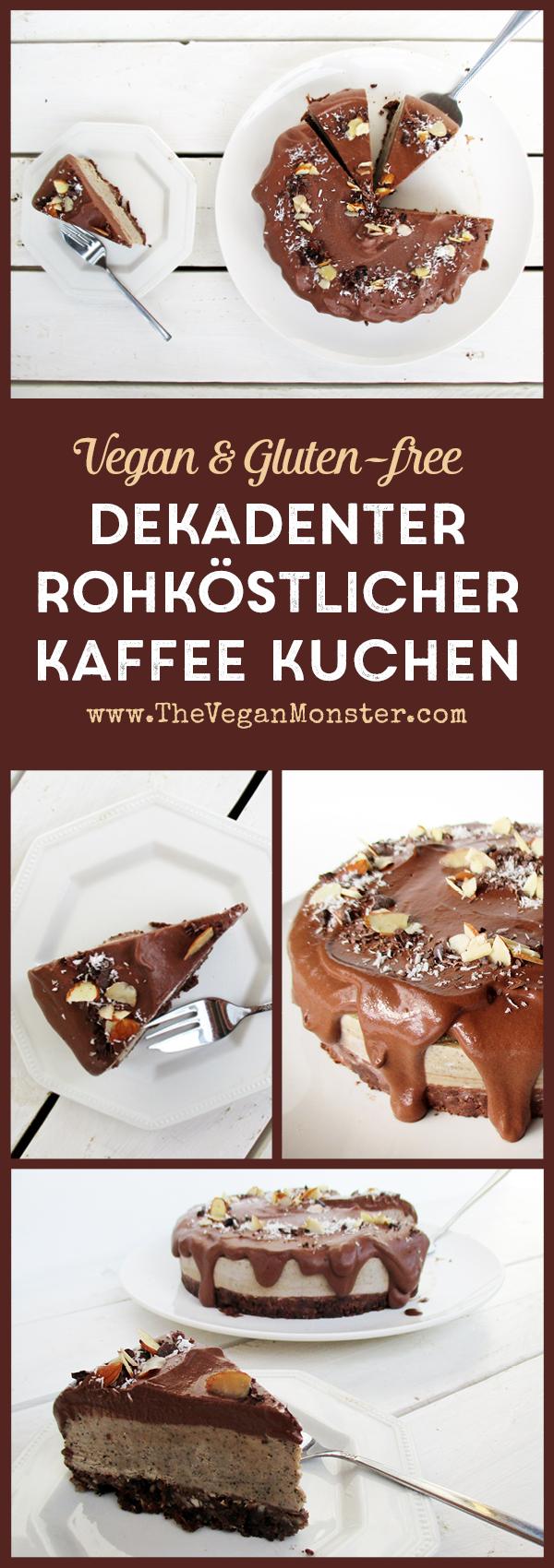 Roh Veganer Glutenfreier Dekadenter Kaffee Kuchen