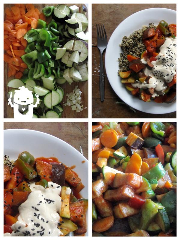 Vegan Gluten-free Summer Vegetable Stir-Fry