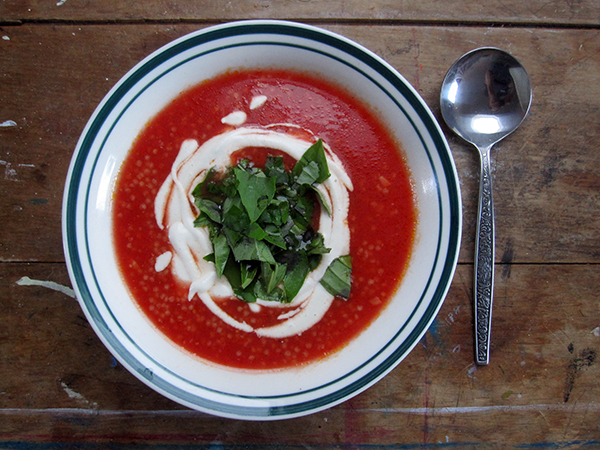 vegan gluten-free Tomato Soup with Millet