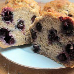 Bananen Blaubeer Muffins (Vegan, Glutenfrei)