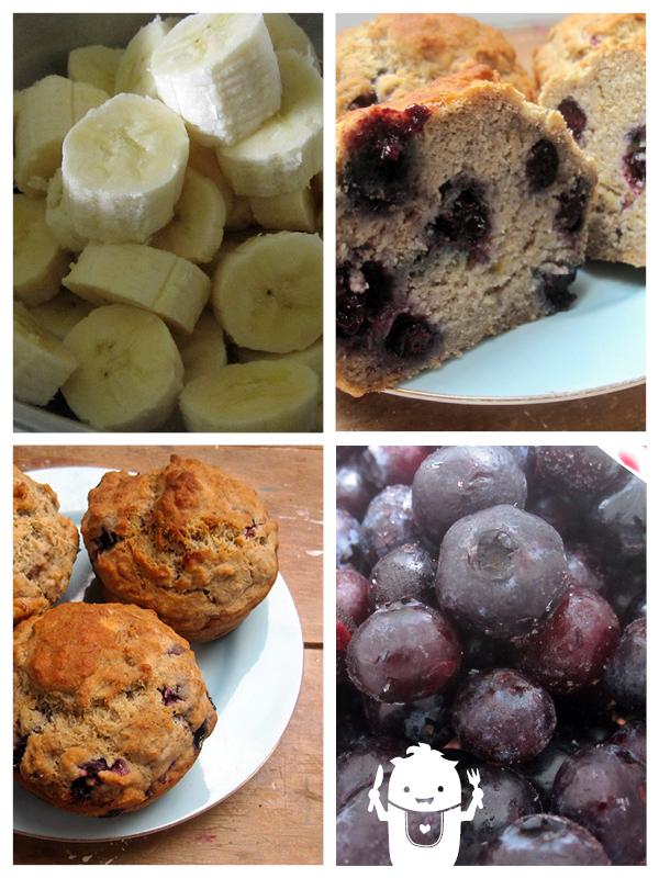 Vegan Gluten-free Banana Blueberry Muffins