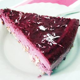 No Bake Blackberry Cake (Vegan, Gluten-free)
