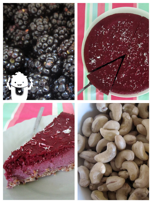 Vegan Gluten-free No Bake Blackberry Cake