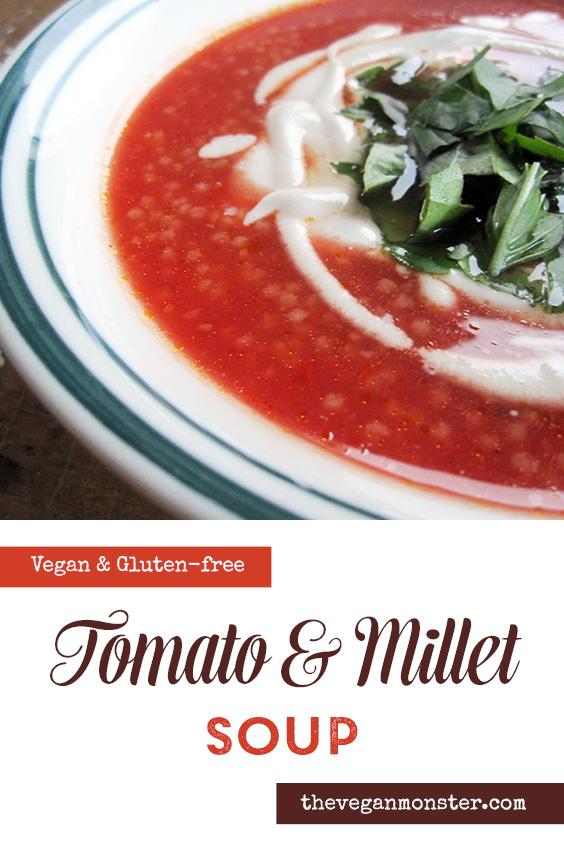 Vegan Gluten-free Tomato Millet Soup Recipe