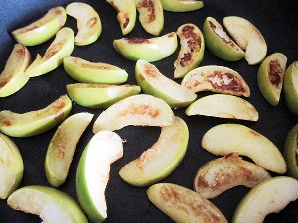 Vegan Gluten-free Dairy-free Rice Porridge with Fried Apples and Cinnamon