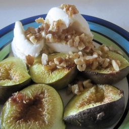 Roasted Figs with Vanilla Ice-Cream