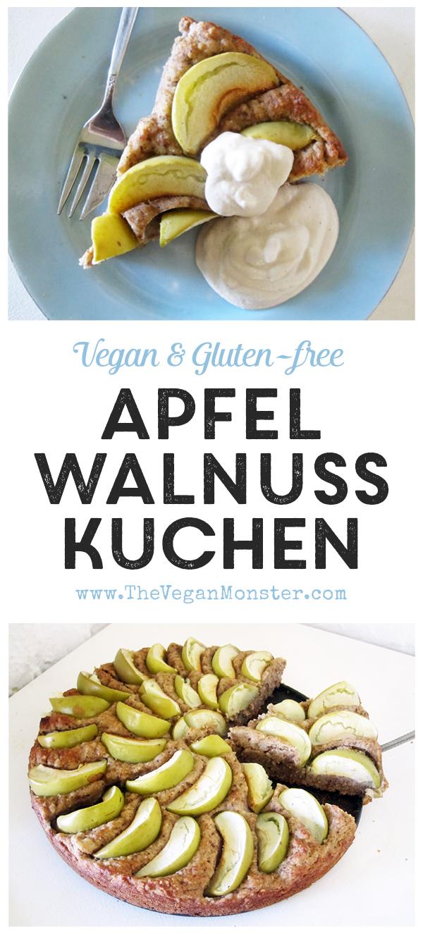 Vegan Gluten-free Apple Walnut Cake