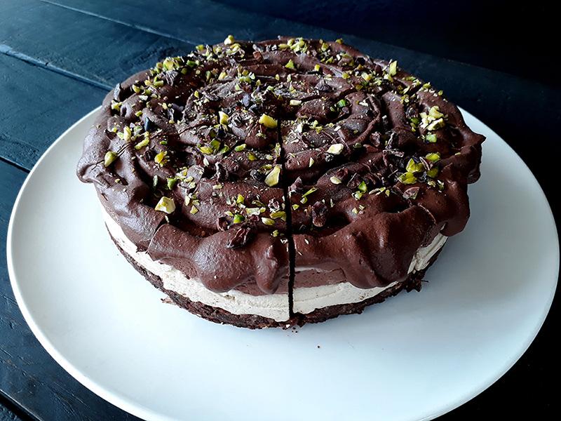 Nix Backen Schoko Vanille Torte Glutenfrei Vegan Rezept