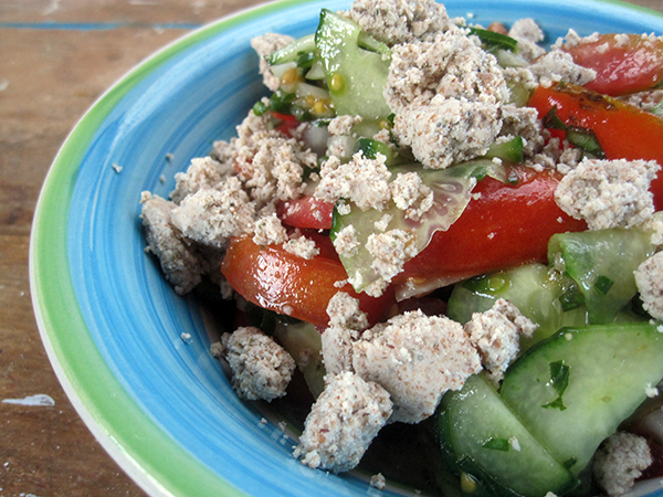 Almond Pulp 'Feta Cheese' (Vegan)