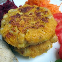 Kumara Chickpea Burger (Vegan, Gluten-free)