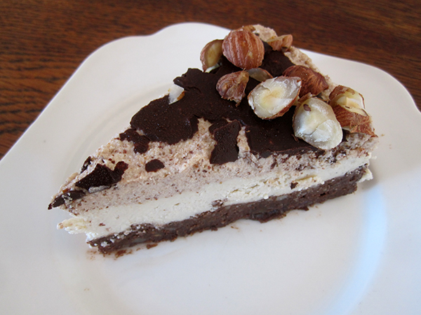 vegan Gluten-free Raw Chocolate Vanilla Hazelnut Cake