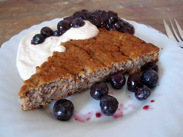 Vegan Gluten-free Hazelnut Banana Cake