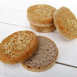 Rustic Gluten-free Vegan Burger Buns