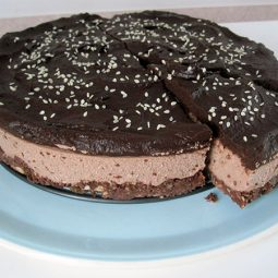 No Bake Chocolate Cake (Vegan, Gluten-free)