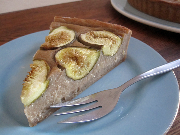 Vegan Gluten-free Fig Vanilla Tart