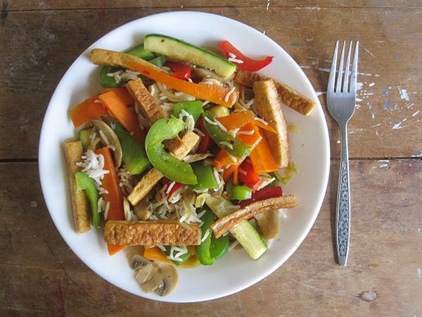 Vegan Gluten-free Veges with Rice Tofu