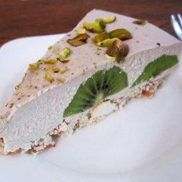 No Bake Kiwifruit Cake (Vegan, Gluten-free)