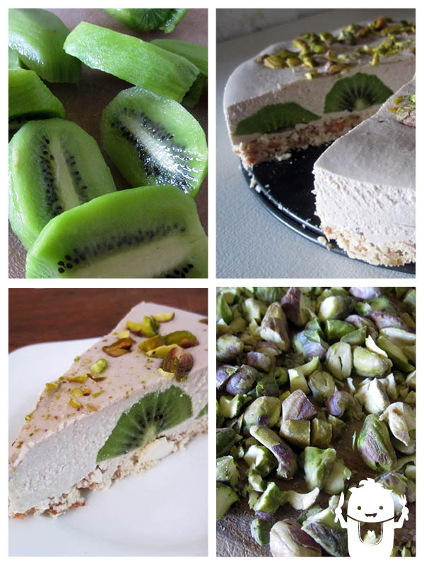 Vegan Gluten-free No Bake Kiwi Fruit Cake