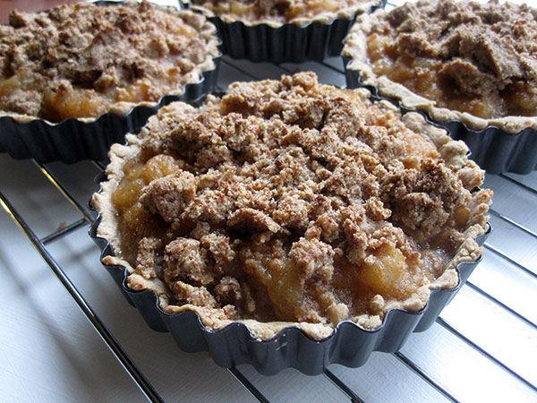 vegan gluten-free mini cinnamon apple tarts
