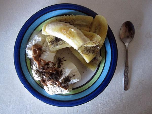 Vegan Gluten-free Fried Banana Vanilla Ice-Cream