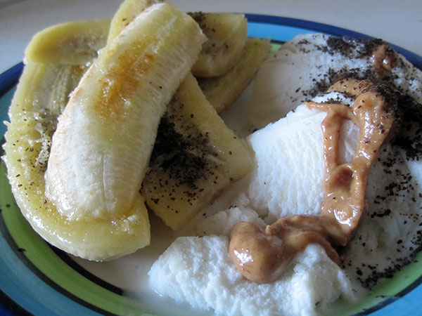 Vegan Gluten-free Fruied Bananas and Vanilla Ice Cream