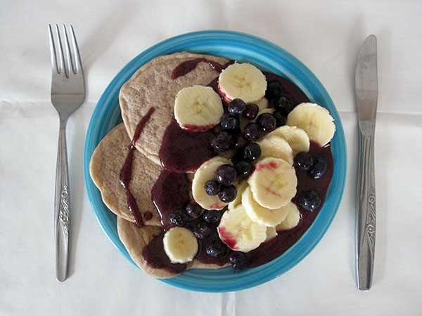 Vegan Gluten-free Walnut Pancakes
