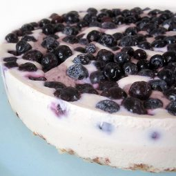 No-Bake Blueberry Vanilla Cake (Vegan, Gluten-free)