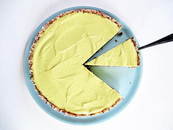 Vegan Gluten-free No-Bake Raw lemon Tart without Refined Sugar Recipe